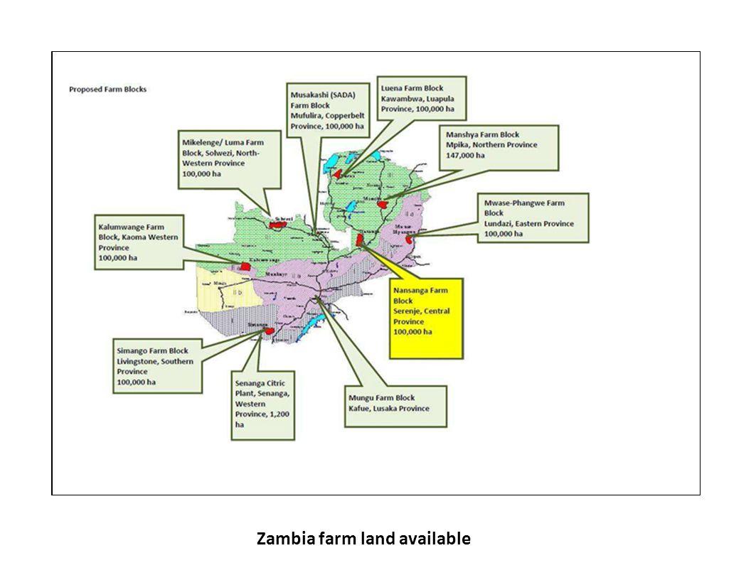 Zambia farm land available