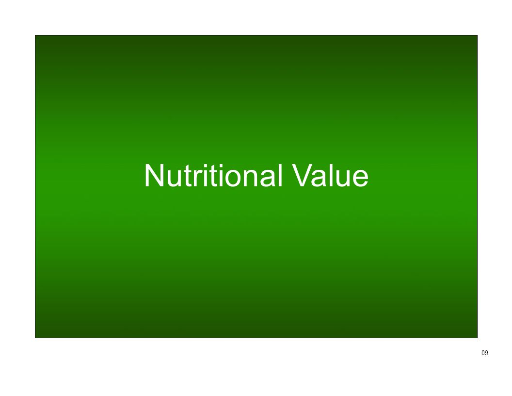 Nutritional Value 09