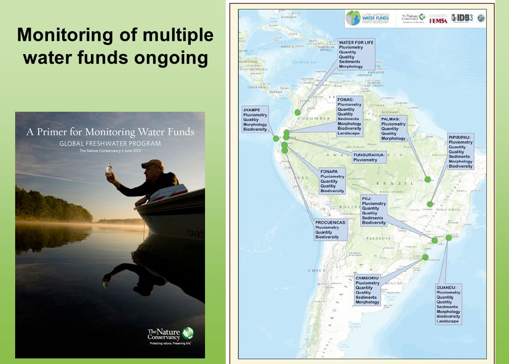 Monitoring of multiple water funds ongoing