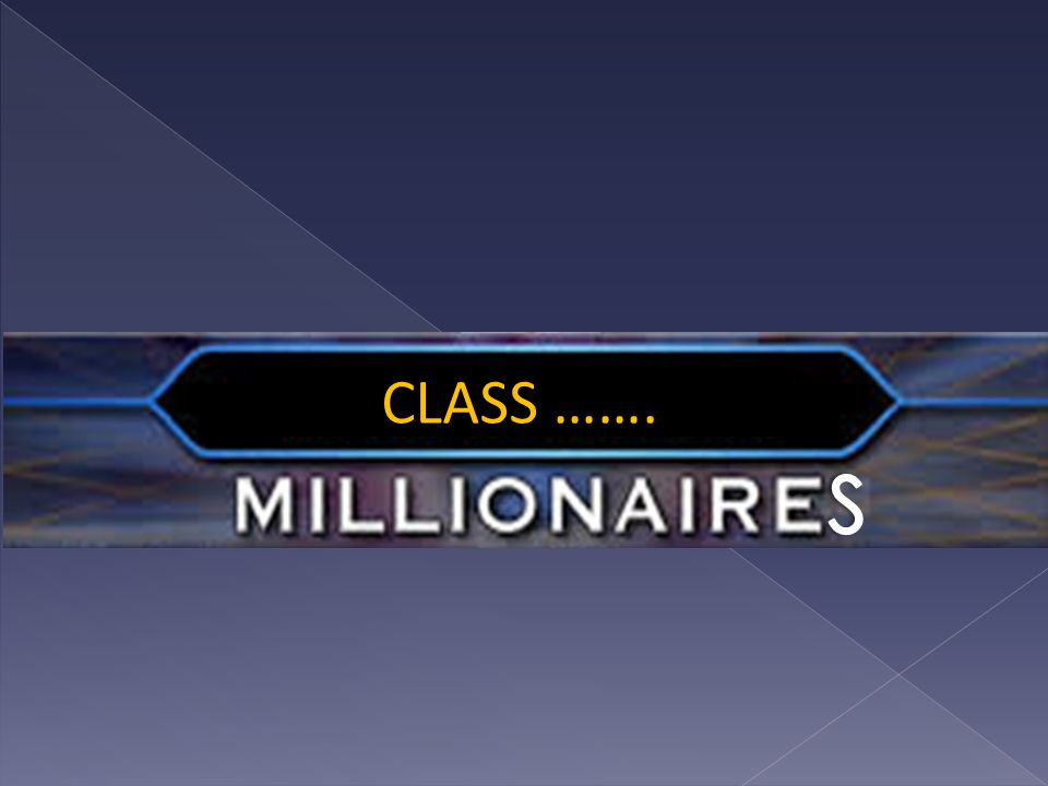 CLASS …….