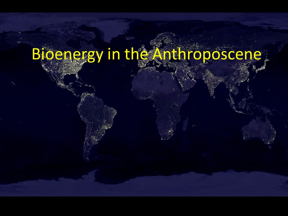 Bioenergy in the Anthroposcene