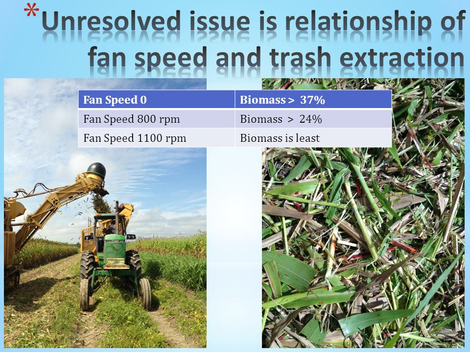 Fan Speed 0Biomass > 37% Fan Speed 800 rpmBiomass > 24% Fan Speed 1100 rpmBiomass is least
