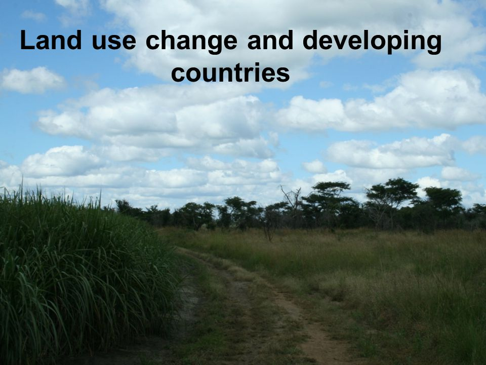 Land use change and developing countries