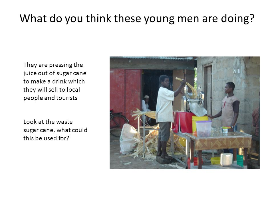 What do you think these young men are doing.
