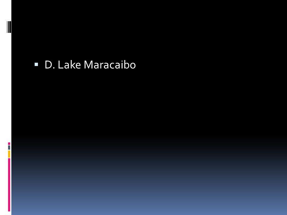  D. Lake Maracaibo