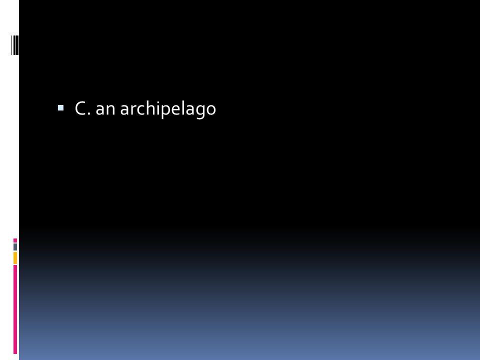  C. an archipelago