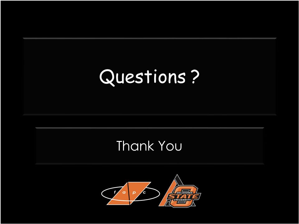 Questions ? Thank You