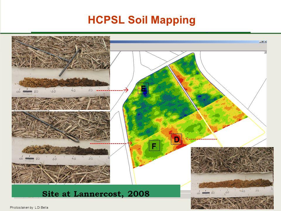 HCPSL Soil Mapping E D F -------------  ------------------  <-------------- Site at Lannercost, 2008 Photos taken by L Di Bella