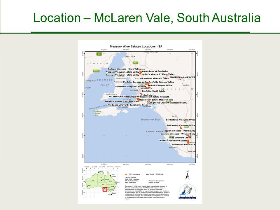 Location – McLaren Vale, South Australia