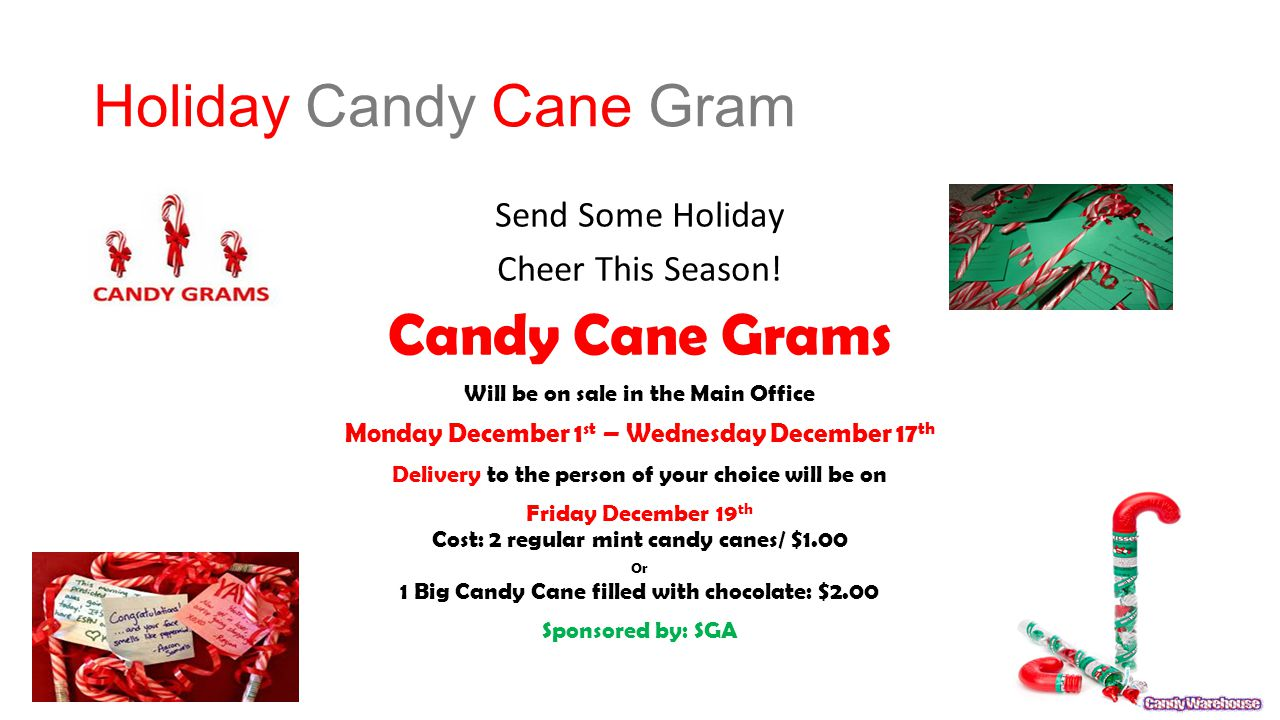 Holiday Candy Cane Gram Send Some Holiday Cheer This Season.