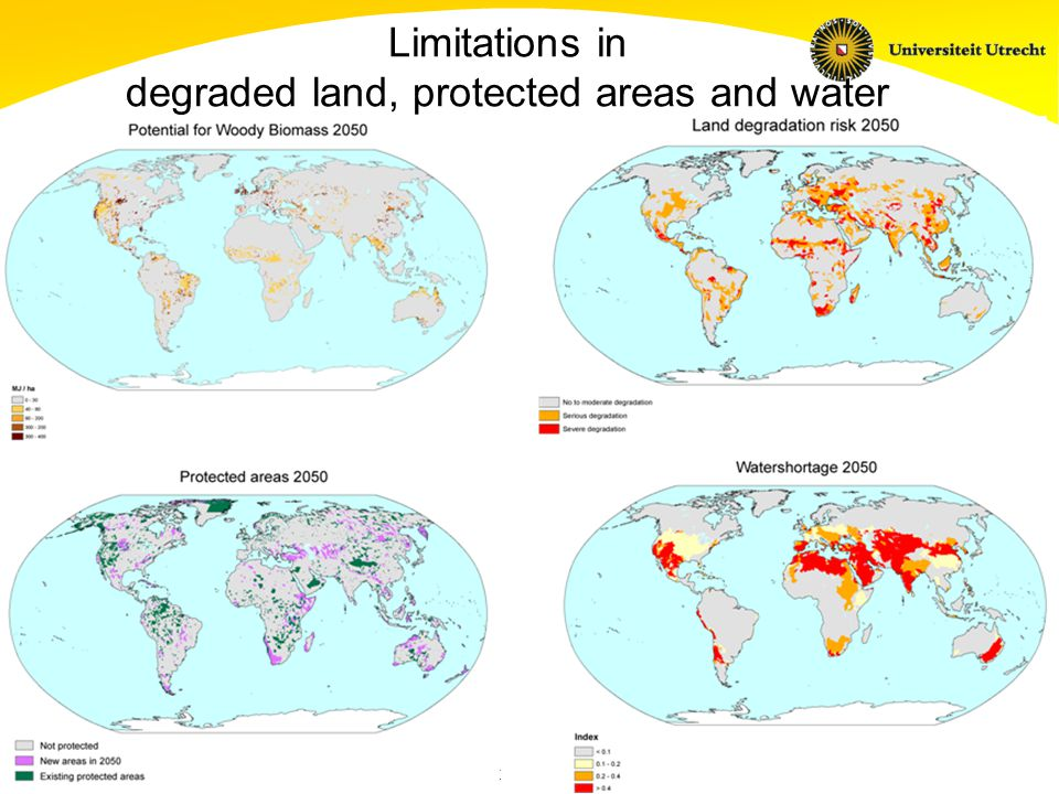 Copernicus Institute Sustainable Development and Innovation Management Limitations in degraded land, protected areas and water