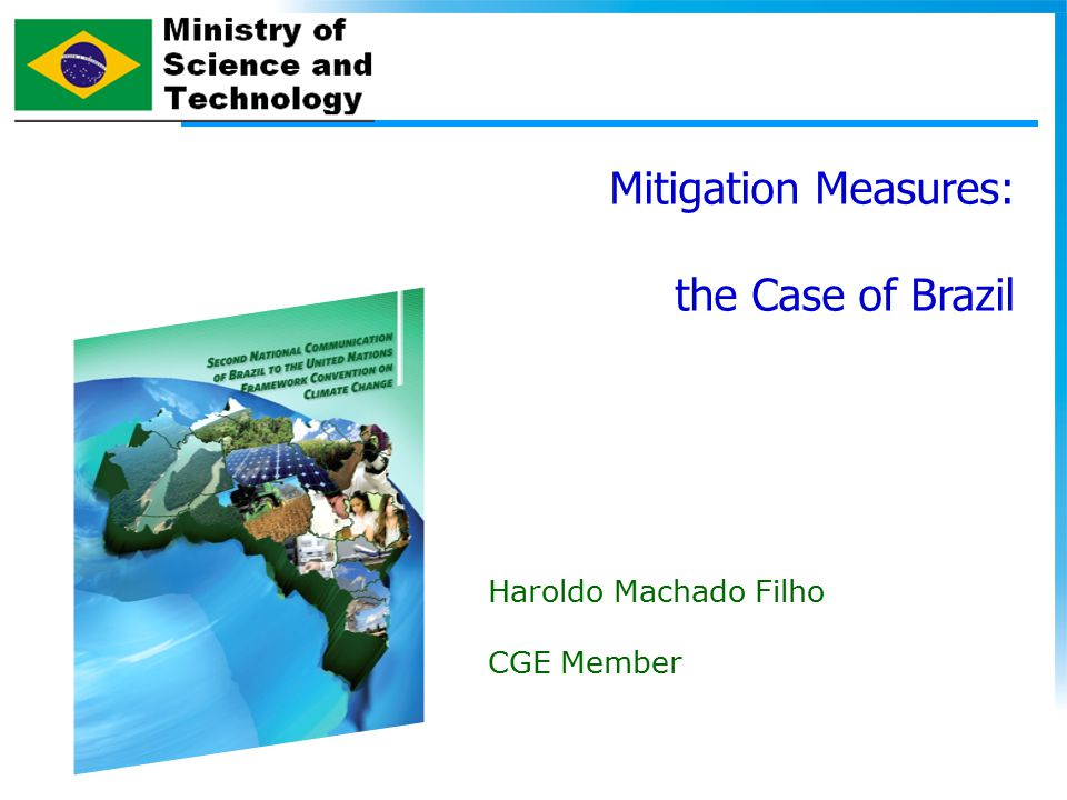 Mitigation Measures: the Case of Brazil Haroldo Machado Filho CGE Member