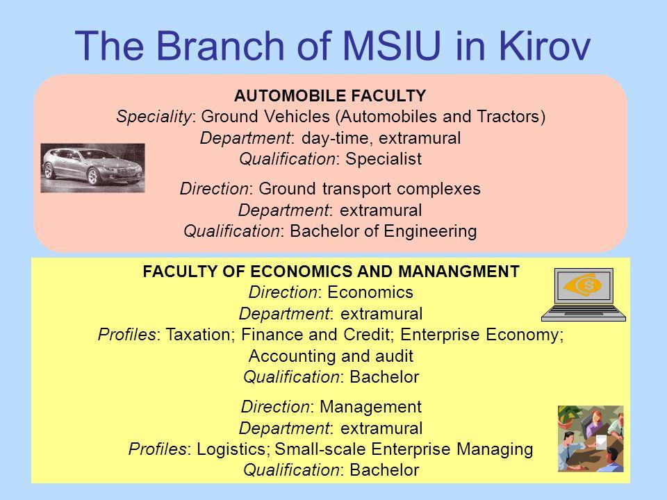 The Branch of MSIU in Kirov