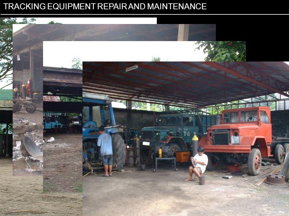Tracking repairs & maintenance TRACKING EQUIPMENT REPAIR AND MAINTENANCE