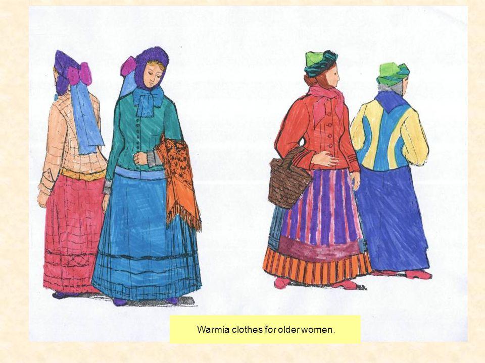Warmia clothes for older women.