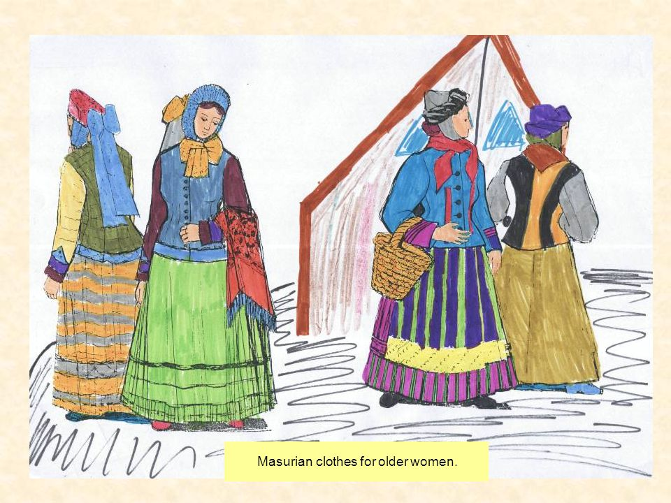 Masurian clothes for older women.