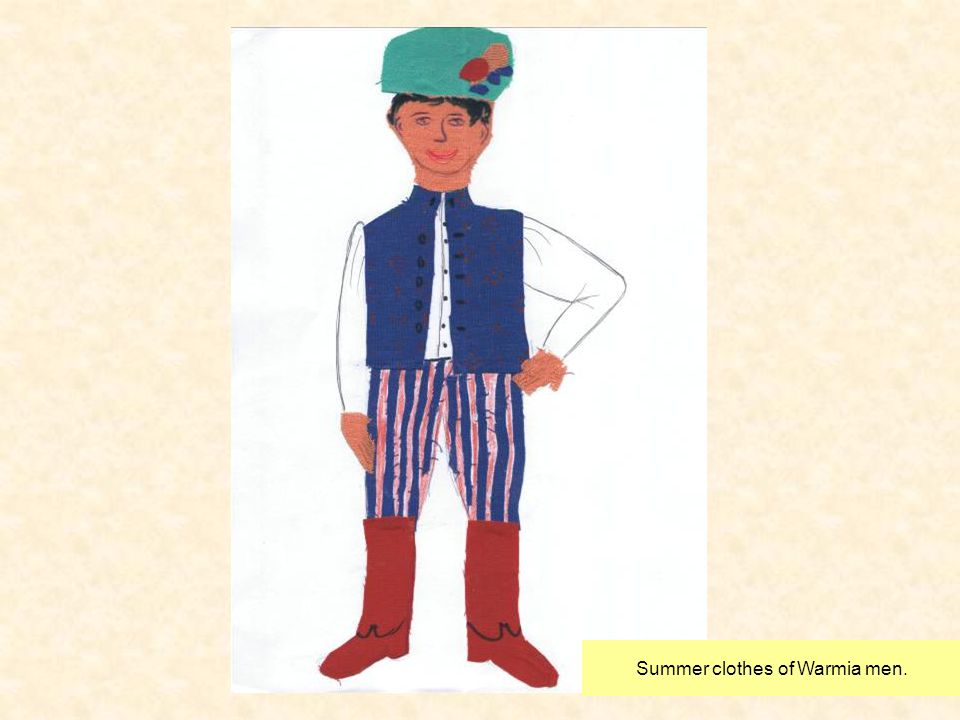 Summer clothes of Warmia men.