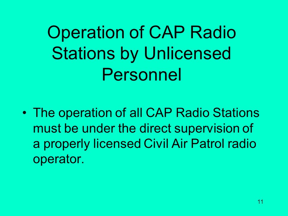 10 Principles of Civil Air Patrol Communications Survivability Reliability Flexibility Maintainability Speed Security