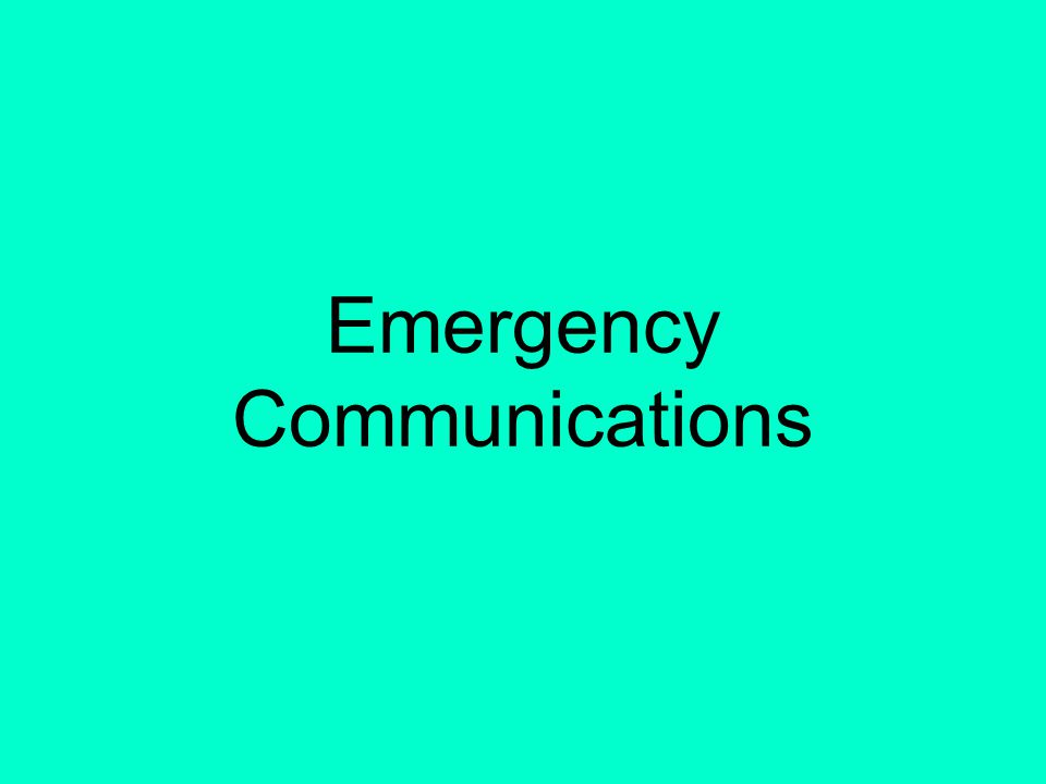 17 Establishing Communications Identify the station you wish to communicate with, followed by
