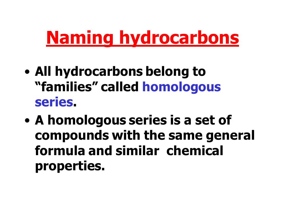Nomenclature Nomenclature means the way chemical compounds are given names.