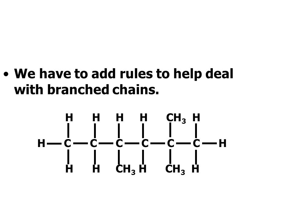 This method works well for straight-chain hydrocarbons like hexane.