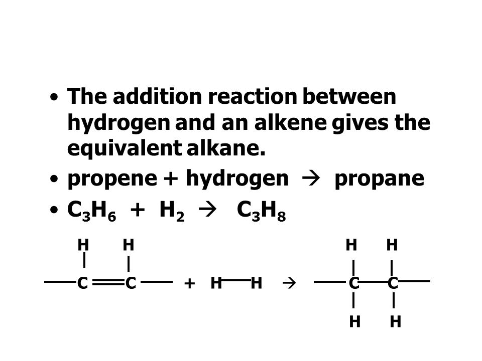 When bromine adds to an alkene we have an addition reaction.