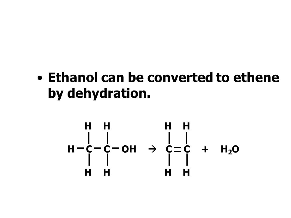 Ethanol To meet market demand ethanol is made by means other than fermentation.