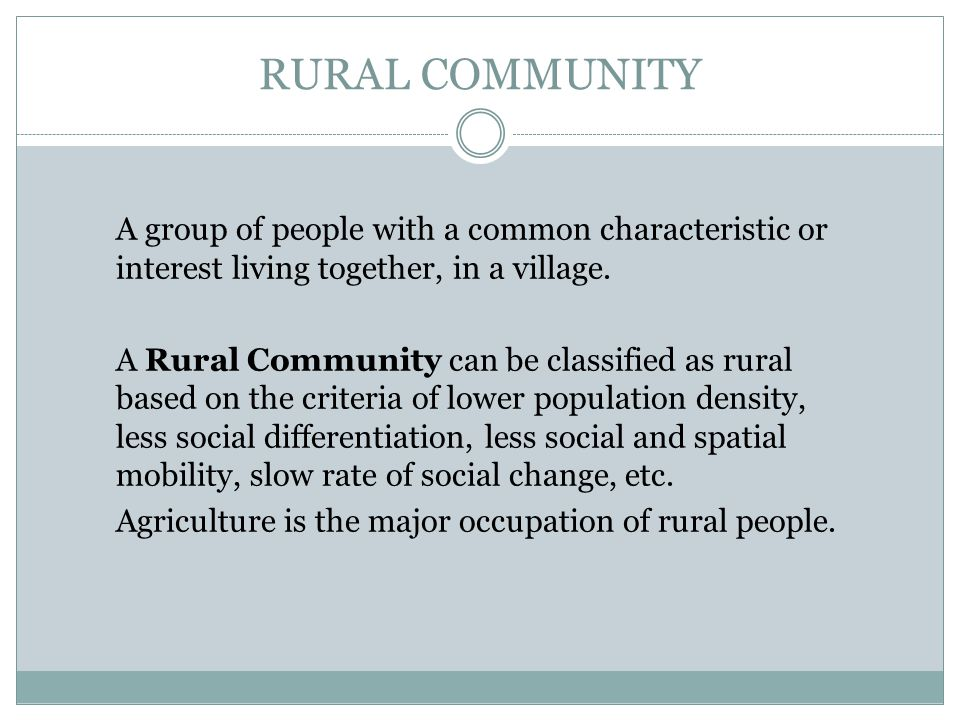 SCOPE & IMPORTANCE OF RURAL DEVELOPMENT