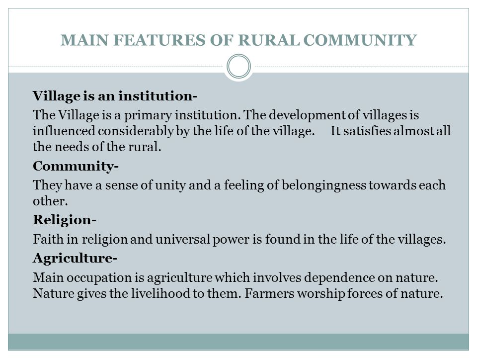 Importance of Rural Development Rural development is a dynamic process, which is mainly concerned with the rural areas.