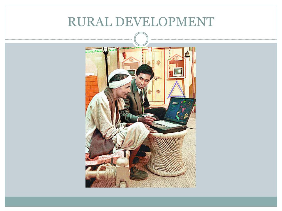 Rural development is a strategy designed to improve the economic and social life of rural poor.