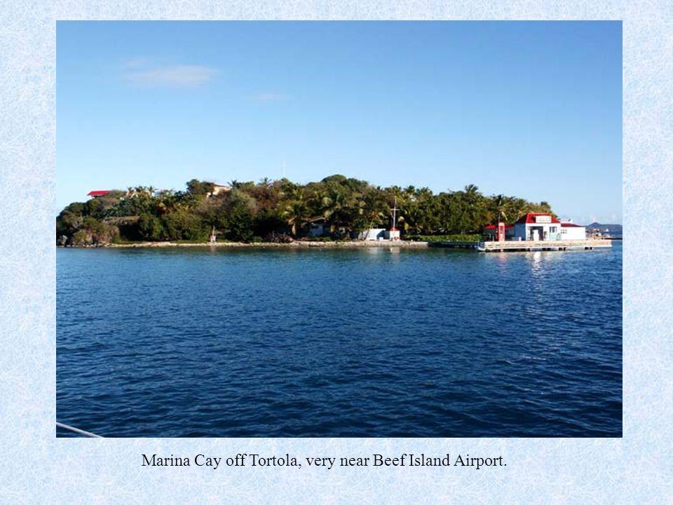 Marina Cay off Tortola, very near Beef Island Airport.