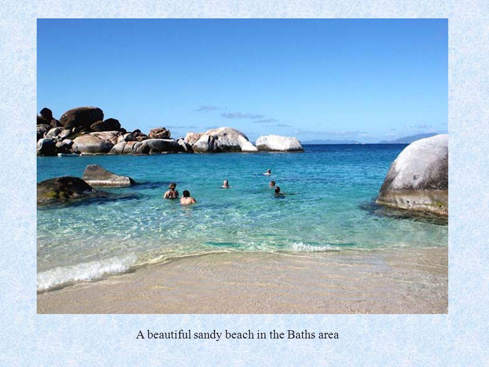 A beautiful sandy beach in the Baths area
