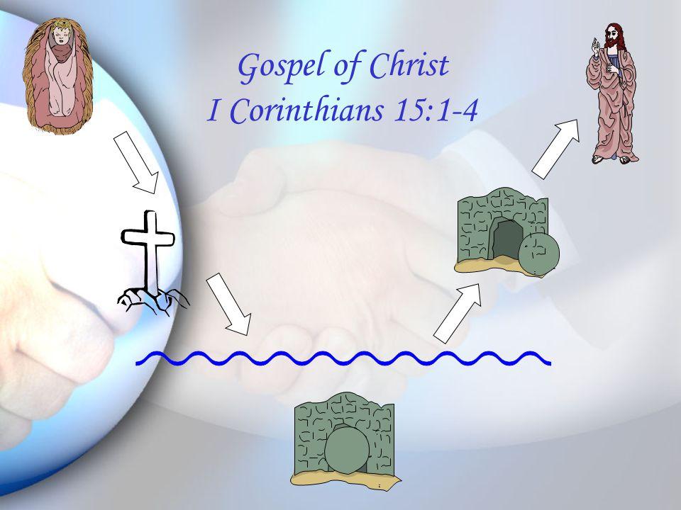 Gospel of Christ I Corinthians 15:1-4