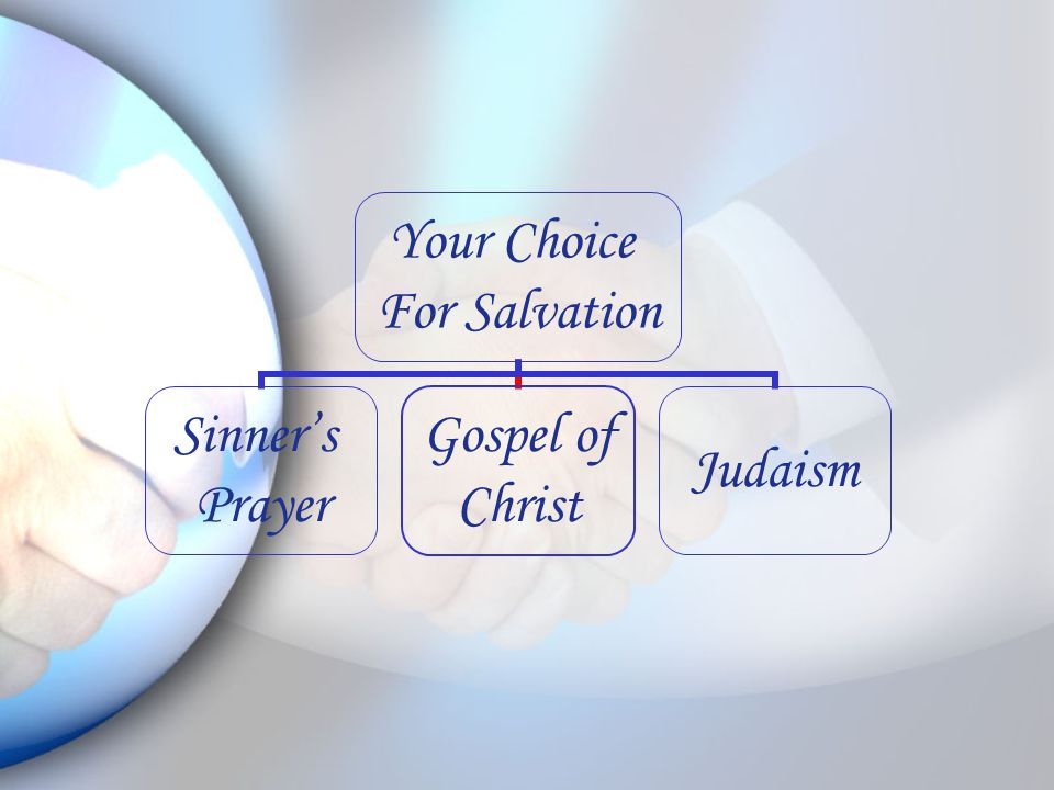 Your Choice For Salvation Sinner's Prayer Gospel of Christ Judaism