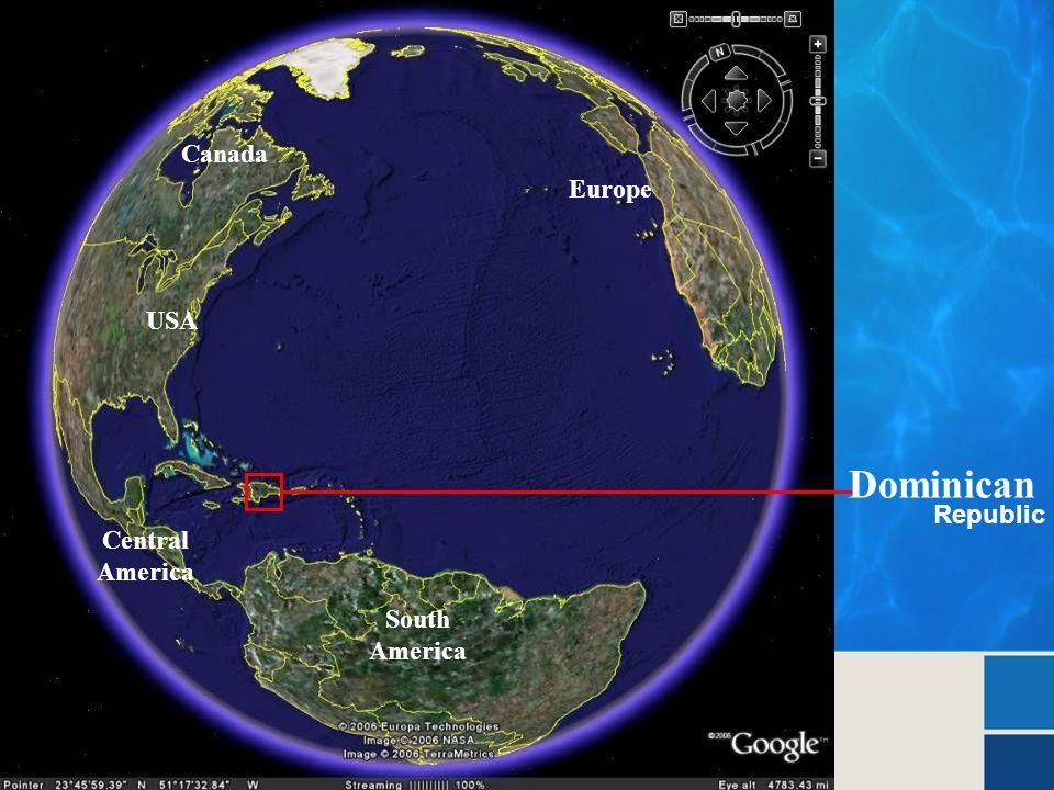 Dominican Republic Europe USA South America Central America Canada