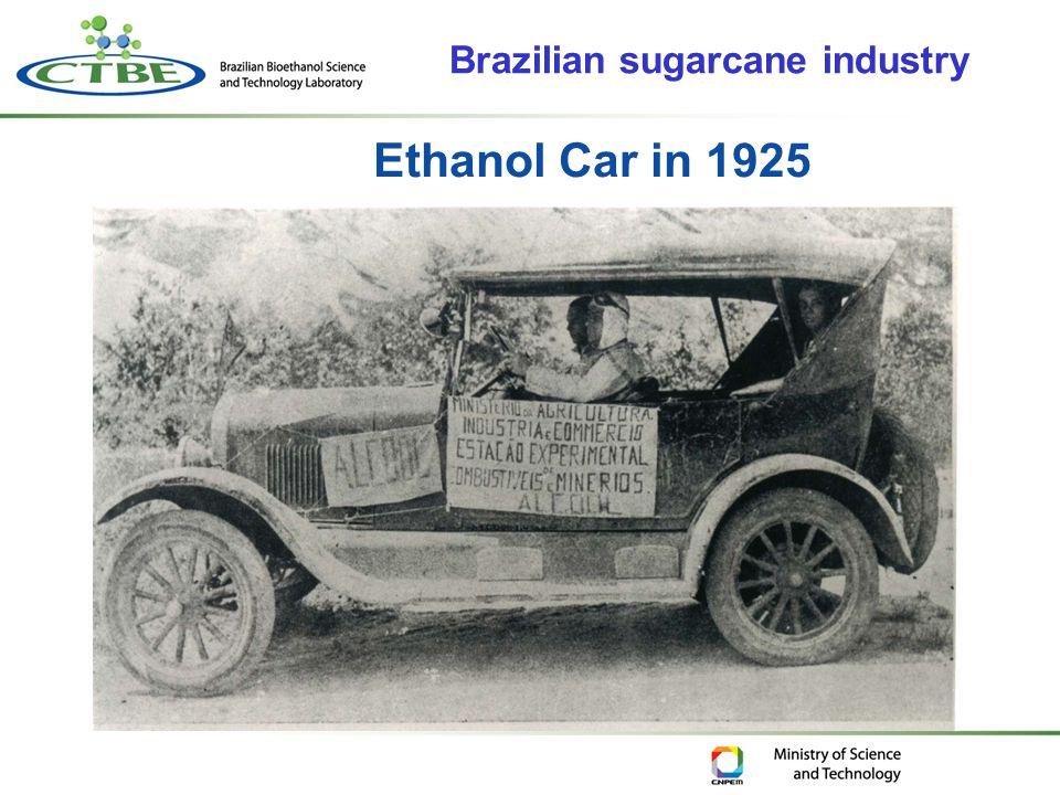 Ethanol Car in 1925 Brazilian sugarcane industry