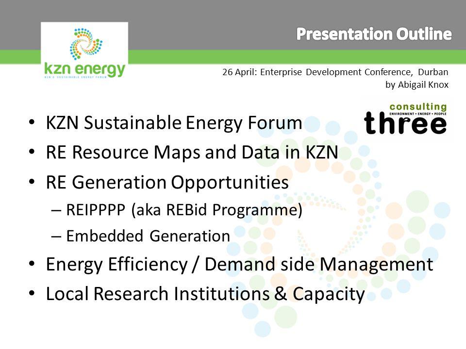 www.kznenergy.org.za info@kznenergy.org.za RE Power station  Electricity Grid  electricity meter  end use