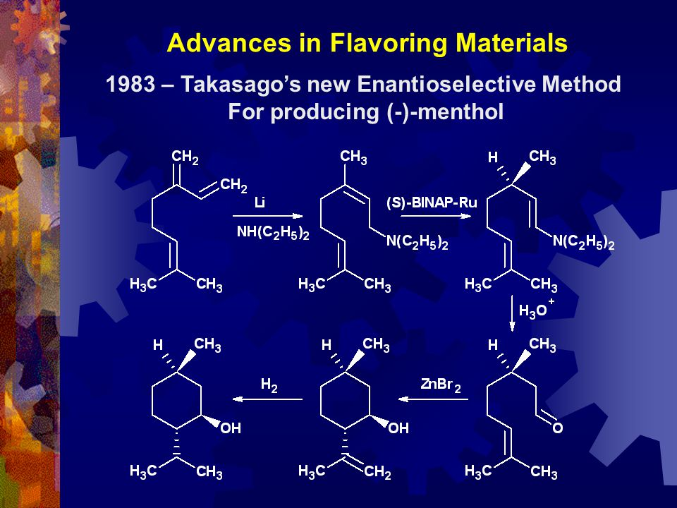 1983 – Takasago's new Enantioselective Method For producing (-)-menthol