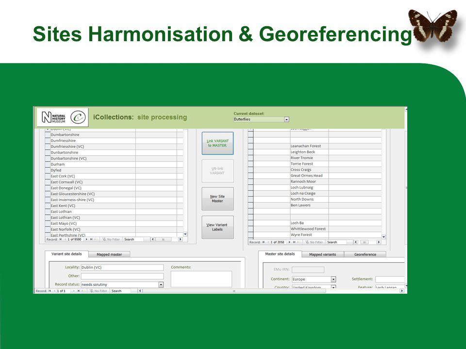 Sites Harmonisation & Georeferencing