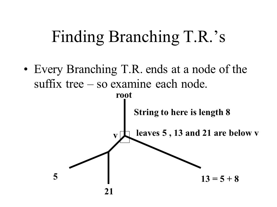 Finding Branching T.R.'s Every Branching T.R.