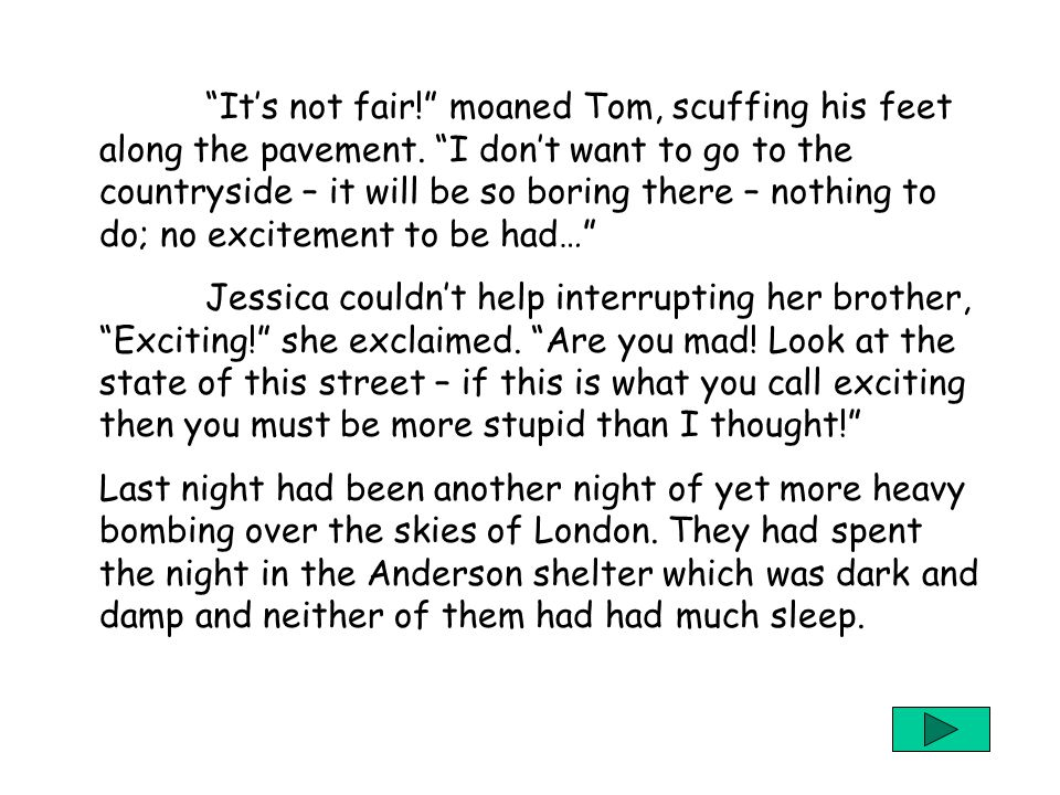4 Chapter 1: London's Falling Jessica, Tom and their dog Sammy were quite happily wandering amongst the rubble on Oxford Street – glad to have some ti