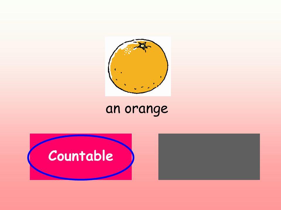 an orange Countable