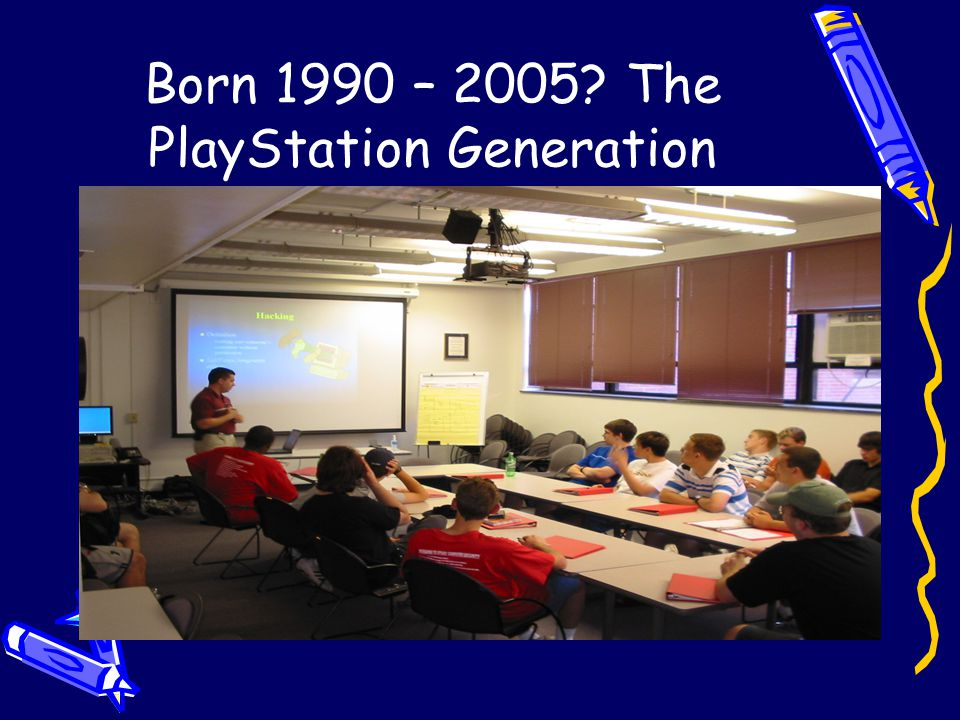 Born 1990 – 2005? The PlayStation Generation