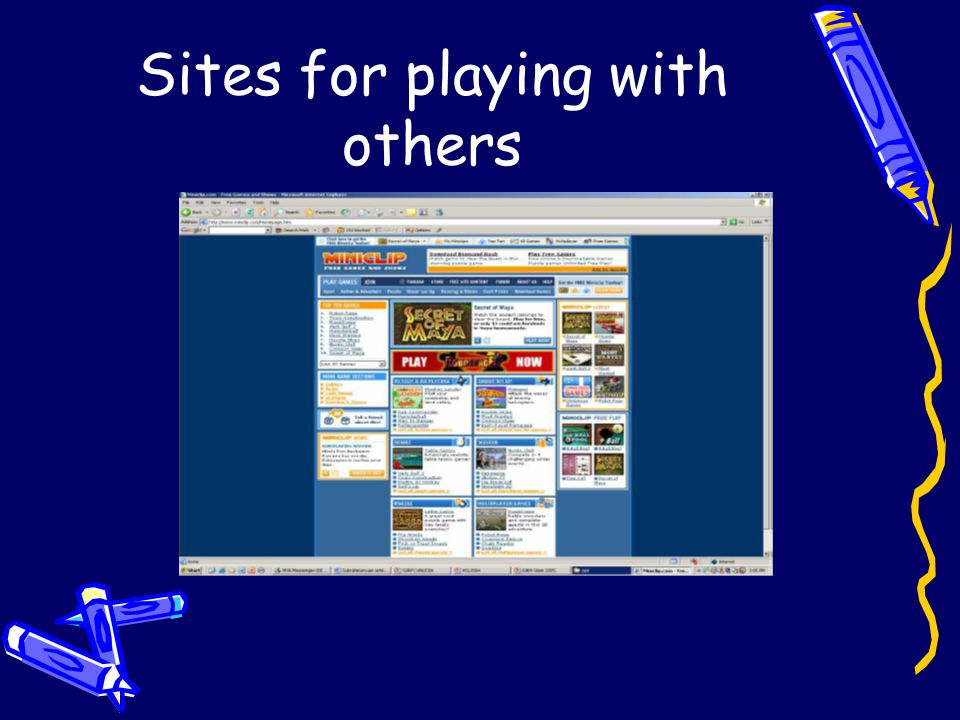 Sites for playing with others