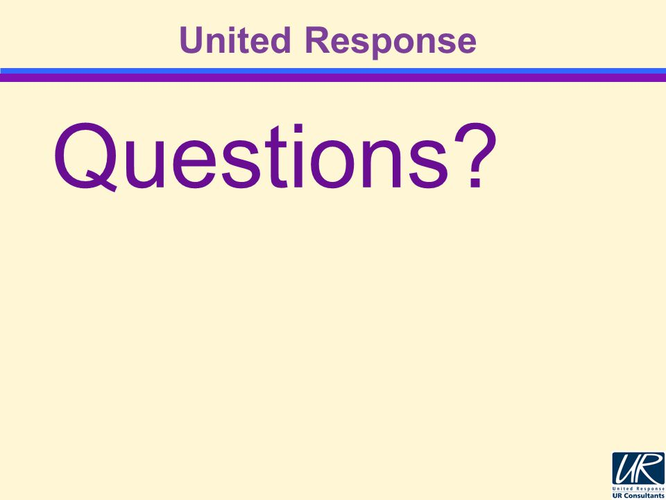 United Response Questions