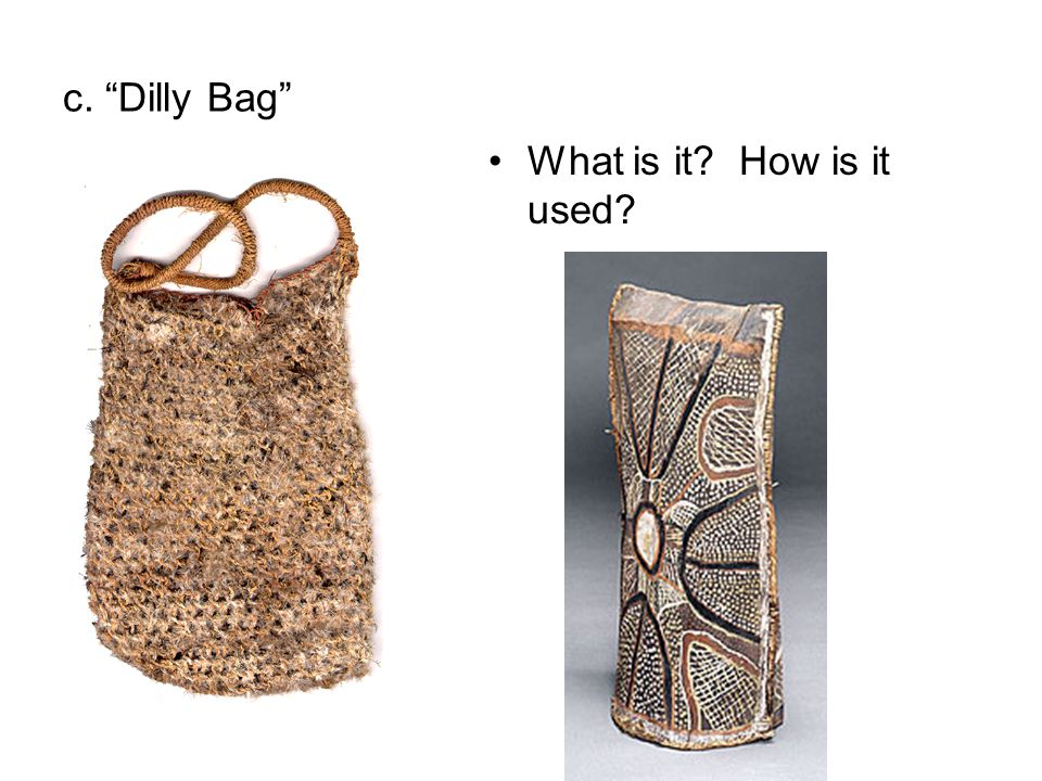 c. Dilly Bag What is it How is it used