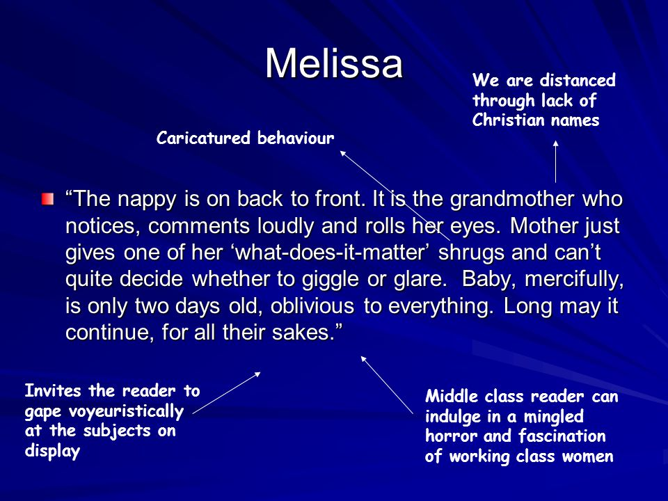 Melissa The nappy is on back to front.