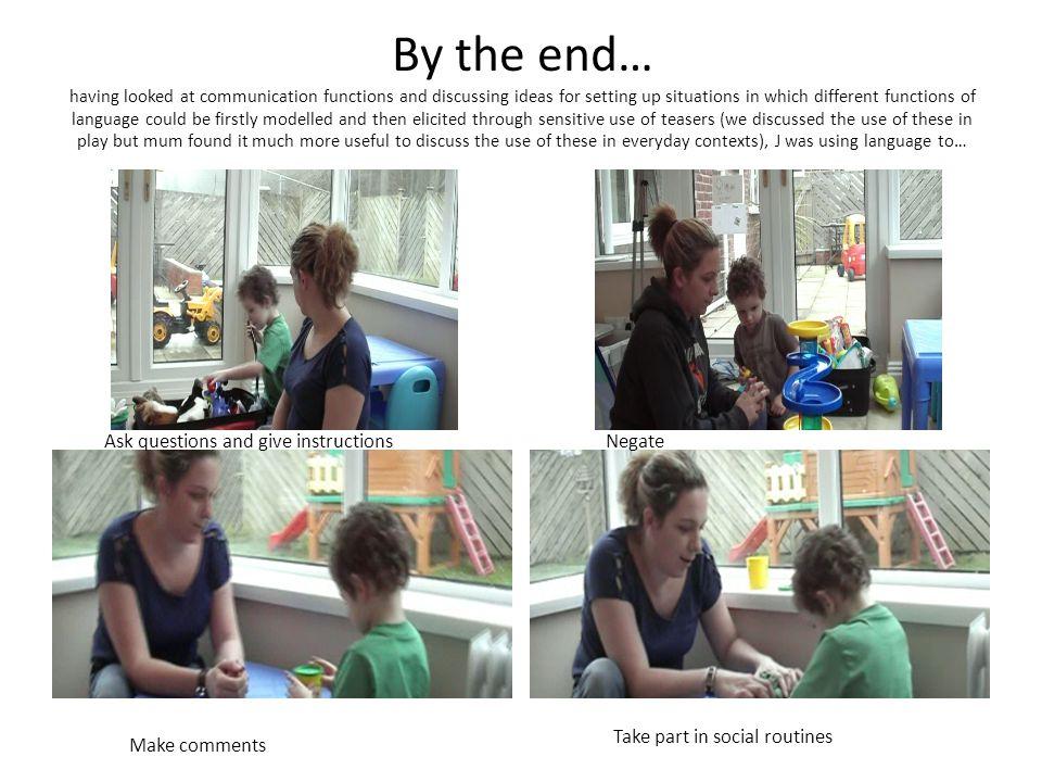 Parent child interaction Endpoint ES 1.22 (0.85 to 1.59) – (Midpoint 1.44) OR (quintiles) 9.10 (4.39 to 18.9, sig) Endpoint ES 0.41 (0.08 to 0.74) – (Midpoint 0.5) OR (quintiles) 2.32 (1.21 to 4.42, sig) Parental synchronyChild initiations