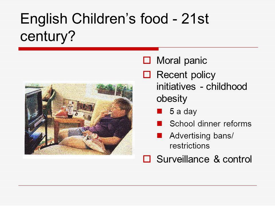 English Children's food - 21st century.