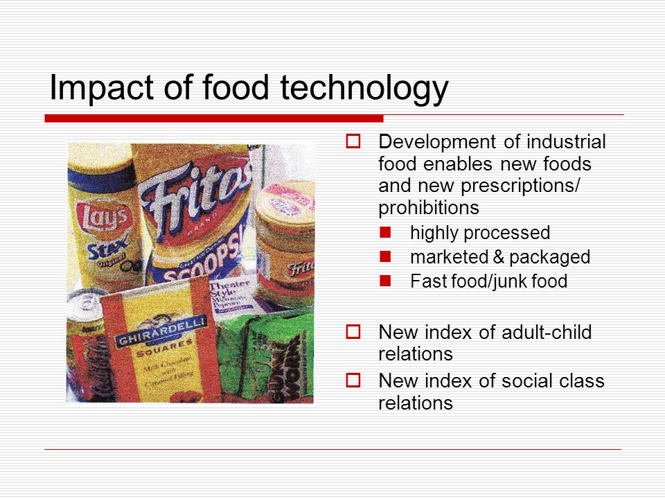 Food as universal index of generation.